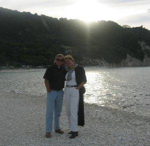 Henk en Tineke aan de Conero-kust